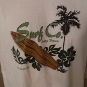 Other - Surf Co. Long Boards Tee Sz L White